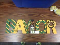 """Super cute Baylor sign that a friend had made for my office!"" // #SicEm!"