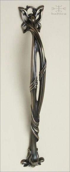 Dalia door pull B, c-c 14 inch   Custom Door Hardware   antique bronze