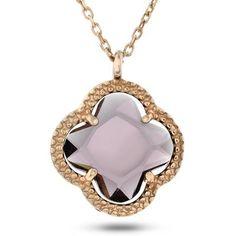Smykke i sølv med krystall med rosè forgylling