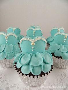 ballerina cupcakes, cupcakes de bailarina en Mari´s Cakes