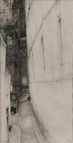 Jules De Bruycker - Tekeningen - potlood, inkt, ingekleurde, krijt - Dessins - Drawings/A0043 RUE ST.BAVON 1936