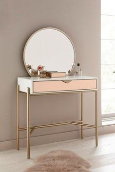 Add a dash of sophisticated elegance to your space with this lovely lacey dressing table. table Buy Lacey Dressing Table With Mirror from the Next UK online shop Room Ideas Bedroom, Home Bedroom, Bedroom Decor, Bedroom Table, Home Furniture, Furniture Design, Deco Furniture, Dressing Table Mirror, Where To Put Dressing Table