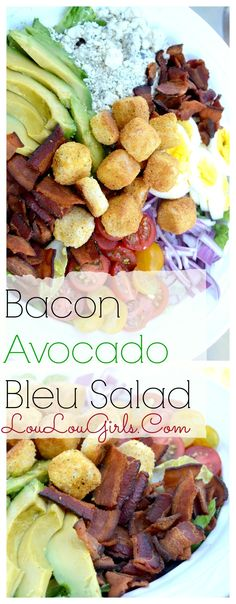 Enjoy this delicious salad with all the fixings!! Bacon, Avocado and Blue Cheese…