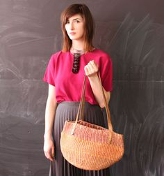large sisal bag southwestern woven purse by cheapopulance on Etsy, $35.00