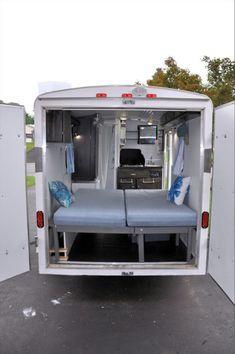 Enclosed Trailer Camper Conversion, Utility Trailer Camper, Toy Hauler Camper, Cargo Trailer Conversion, Box Trailer, Trailer Storage, Enclosed Trailers, Cargo Trailers, Camper Trailers