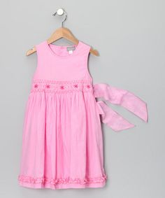 Take a look at this Pink Star Dress - Toddler & Girls by Alouette on #zulily today!