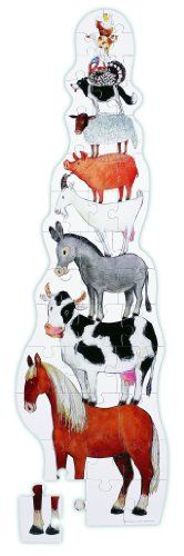 """Crocodile Creek 48"""" Tall Tower Puzzle - Barnyard *** Be sure to check out this awesome product."""