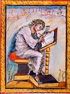 Saint Matthew, from the Gospel Book of Archbishop Ebbo of Reims (The Épernay Gospel), c. ink and tempera on vellum, 10 x 8 Bibliothèque Municipale, Épernay From the Carolingian dynasty. Poster Size Prints, Poster Prints, Medieval Art, Canvas Prints, Carolingian, Saint Matthew, Middle Ages, Art, Art History