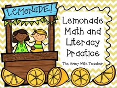 Lemonade Craftivity and Math and Literacy Practice! Perfect for summer!