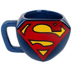 """Tazza in ceramica """"Shaped Logo"""" di #Superman."""
