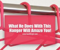 What He Does With This Hanger Will Amaze You!