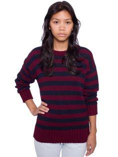 burgundy and navy stripes.