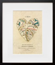 A Map of the Open Country of a Woman's Heart  by D.W. Kellogg & Co. via 20x200.com  I want...