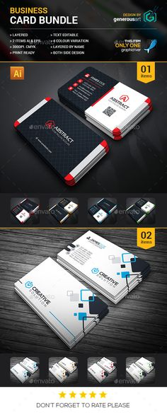 Business Card Bundle 2 in 1 - Business Card Template Vector EPS, Vector AI. Download here: http://graphicriver.net/item/business-card-bundle-2-in-1/16428123?s_rank=102&ref=yinkira