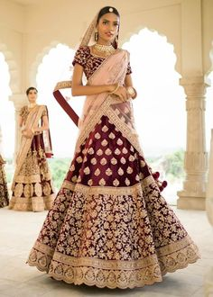 Presenting new collection of lehenga Lehenga Fabric : Indian 2 Ton velvet Blouse Fabric :indian 2 Ton Velvet Dupatta Fabric : Bridal Net Work : Heavy Embroidery . INR shipping extra (code DM me or Whatspp:- 918866552363 CASH ON DELIVERY . Lehenga Blouse, Bridal Lehenga Choli, Red Lehenga, Bridal Outfits, Bridal Dresses, Bridal Bouquets, Bridal Shoes, Indian Dresses, Indian Outfits