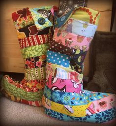 christmas stockings!! I think I might start making this for my son out of his old Christmas jamjams!