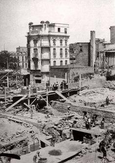 İstanbul, Sirkeci Büyük Postane yeni inşaa ediliyor - 1905 1909