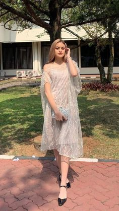 Dress Muslim Modern, Dress Brokat Modern, Kebaya Modern Dress, Muslim Dress, Kebaya Lace, Kebaya Dress, Dress Pesta, Model Dress Batik, Batik Dress