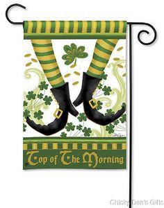 BreezeArt Garden Flag Irish Jig St Patrick's Day NEW
