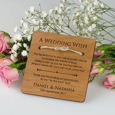 "Engraved Wooden ""A Wedding Wish"" Bracelet"