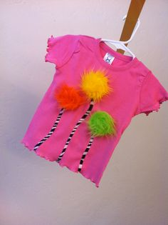 Dr Seuss raspberry pink truffula trees Lorax inspired by SoSoHippo, $24.00
