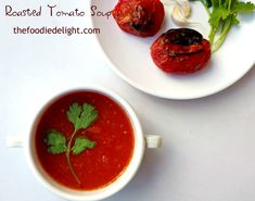 Easy Roasted Tomato Soup Recipe by The Foodie Delight