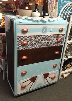 art deco hand painted dresser by D Dunba