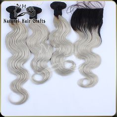 Find More Hair Weft with Closure Information about 2015 New virgin Brazilian/Malaysian/European/Peruvian Human hair dark root gray hair ombre hair bundles with closure 4pcs/lot,High Quality bundle cable,China bundle material Suppliers, Cheap hair care from Natural Hair Crafts Factory on Aliexpress.com
