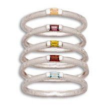 Sterling Silver Stacking Ring with Color CZs pieces) - Size 10 Silver Stacking Rings, Size 10 Rings, Amazon, Sterling Silver, Color, Amazons, Riding Habit, Colour, Colors