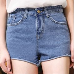2016 miss xia ji nuovo hot pants a vita di curling pantaloncini di jeans