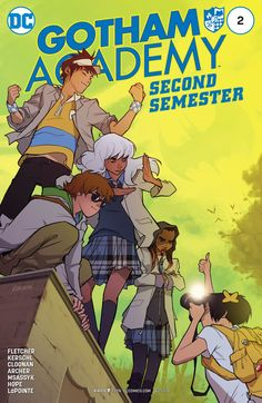 Gotham Academy: Second Semester (2016-) #2  Despite Olive's new friendship with the rebellious Amy, she, Maps, Kyle, Colton and Pomeline are back together at last. The only thing they're missing…is a mystery! Maps campaigns to recruit new cases, but stumbles on a threat that might be too big for even the Detective Club.
