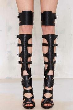 Nasty Gal Scale Up Knee-High Heel