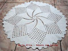 Arte em Crochê: Tapetes de Barbante