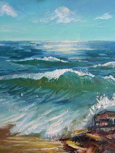 Sea weave Seascape original oil painting landscape Marine art #landscapesea #oilpainting #painting #seaweave #marine #art #seascape #sea #wallart
