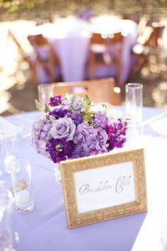 Purple outdoor reception