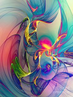Sunrise Digital Art Fractal by Klara Acel