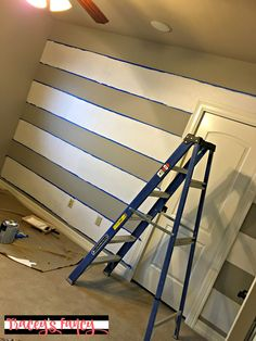 Accent Wall: DIY Buffalo Check Wall | Tracey's Fancy Small Baby Nursery, Focal Wall, Buffalo Check, Painting Tips, Stairs, Fancy, Diy, Home Decor, Stairway