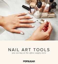 "You already have these in your makeup kit, but you're not using them to their full potential! Jin Soon Choi, lead nail artist at Derek Lam, uses spoolie brushes for abstract painting. ""I apply lacquer to the wand and stamp it on the nail,"" she explained. ""Sometimes I'll bend the wand first to get a more irregular shape."""