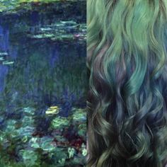 Fine Art Hair: Monet Water Lilies