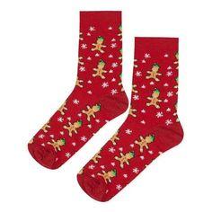 TopShop Christmas Gingerbread Elf Socks (7.81 CAD) ❤ liked on Polyvore featuring intimates, hosiery, socks, christmas socks, patterned hosiery, patterned ankle socks, short socks and cotton socks