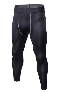 5050e565686b1 Mens Long Tights Compression Base Layer Pants for Running Cycling Football  - Black - C018658YN3E -
