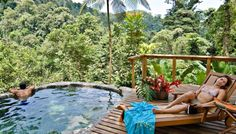 Pacuare Lodge Honeymoon Suite plunge pool