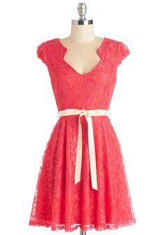 Sweet Staple Dress in Scarlet