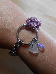 Sea Glass Jewelry - Nautical Ring Bracelet - TRAVELLER
