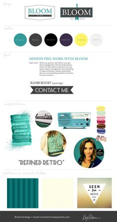 Brand board / #brand #strategy / #branding #design by www.kayeputnam.com / #creative #entrepreneur / #identity #business