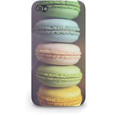 Pastel Macaroons Yummy - Hard Cover Case iPhone 5 4 4S 3 3GS HTC... ($23) ❤ liked on Polyvore featuring accessories, tech accessories, phone, phone cases, case, iphone case, blackberry smartphone, apple iphone cases, samsung galaxy smartphone and iphone cover case