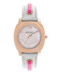 Look what I found on #zulily! Rose Gold & Gray Watch by Sperry Top-Sider #zulilyfinds