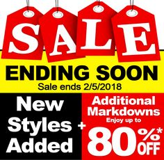 HURRY!! SALE ENDING