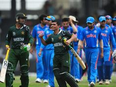 Pak players celebrate after winning their warm-up world T20 match vs India 17 Sep 2012