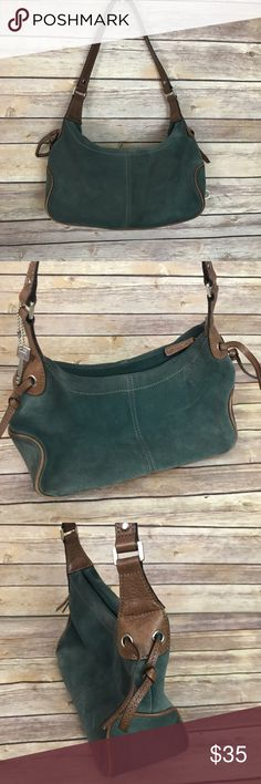 "Fossil Green Suede Purse Fossil Green Suede leather bag. Width: 11"" Depth: 6"" Drop Strap: 11"" Great Condition with no flaws. Fossil Bags"